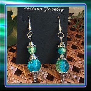 Jewelry - Mint Blue Glass Earrings